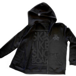 Skate Like A Snowboarder Stealth Hoodie -0