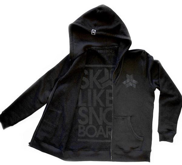 Skate Like A Snowboarder Stealth Hoodie -0
